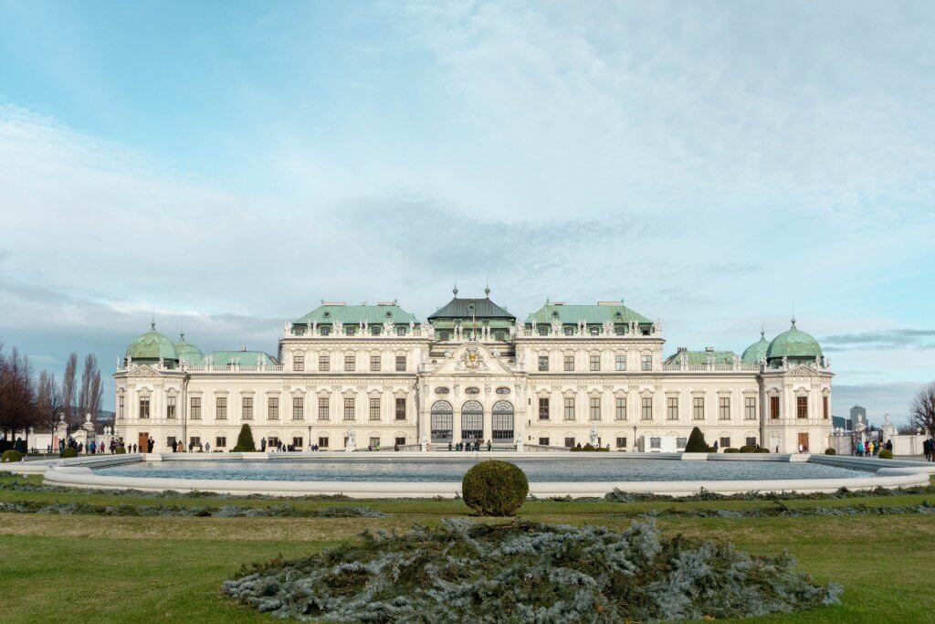 Beautiful Belvedere Castle which you can find in Austria's Capital, Vienna