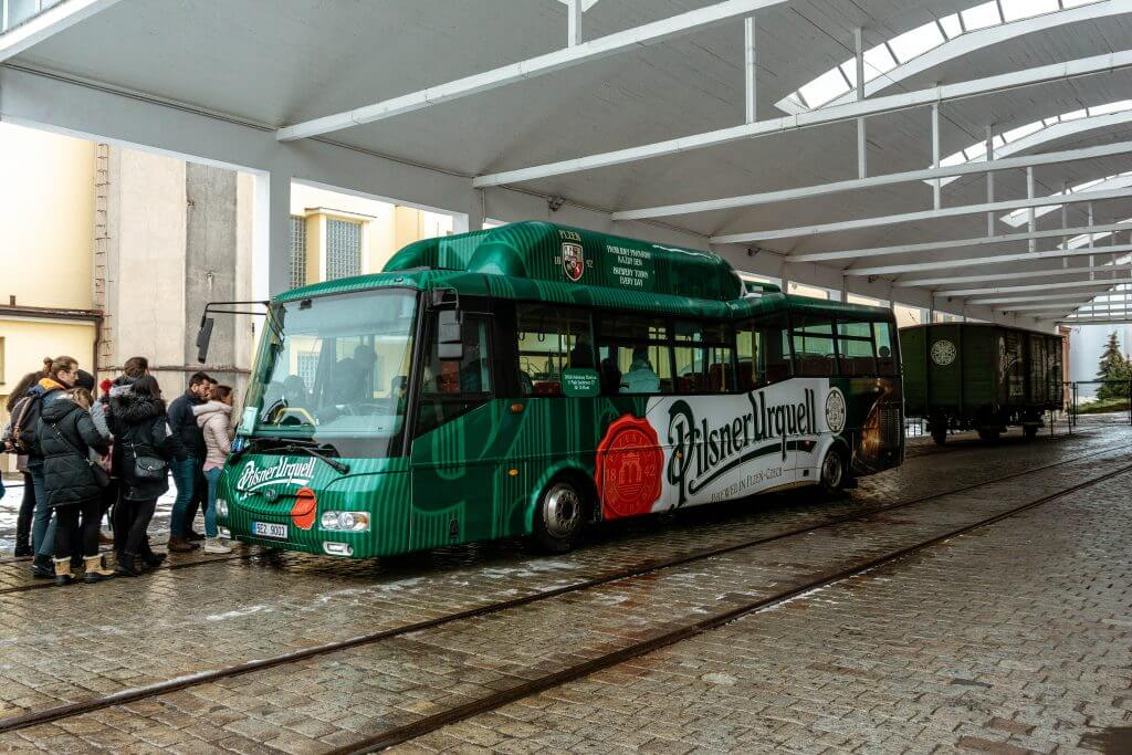 Pilsner Urquell bus.
