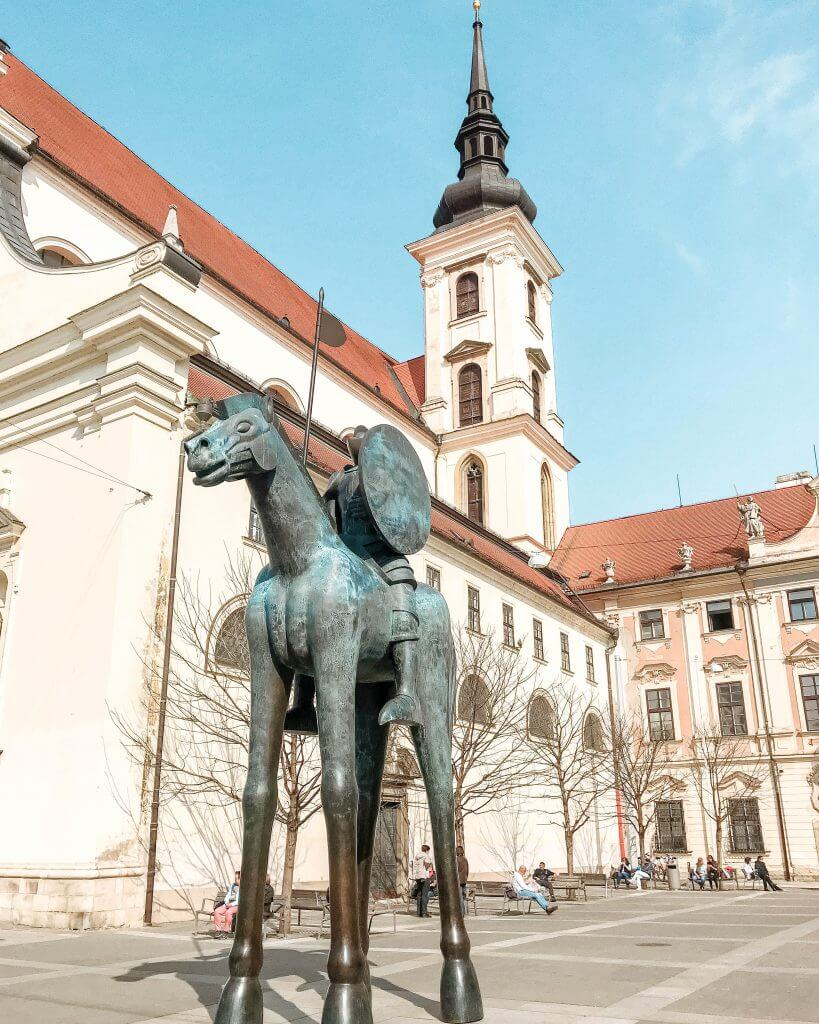 Famous horse statue in Brno.