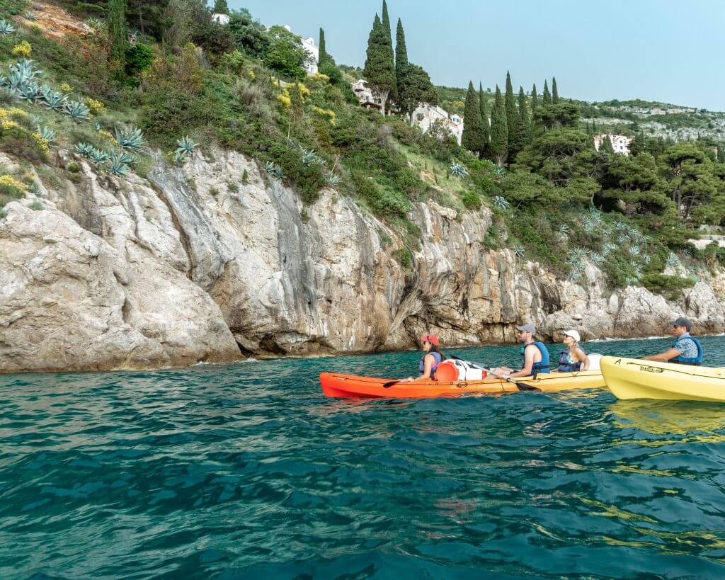 Sea kayaking in Dubrovnik.