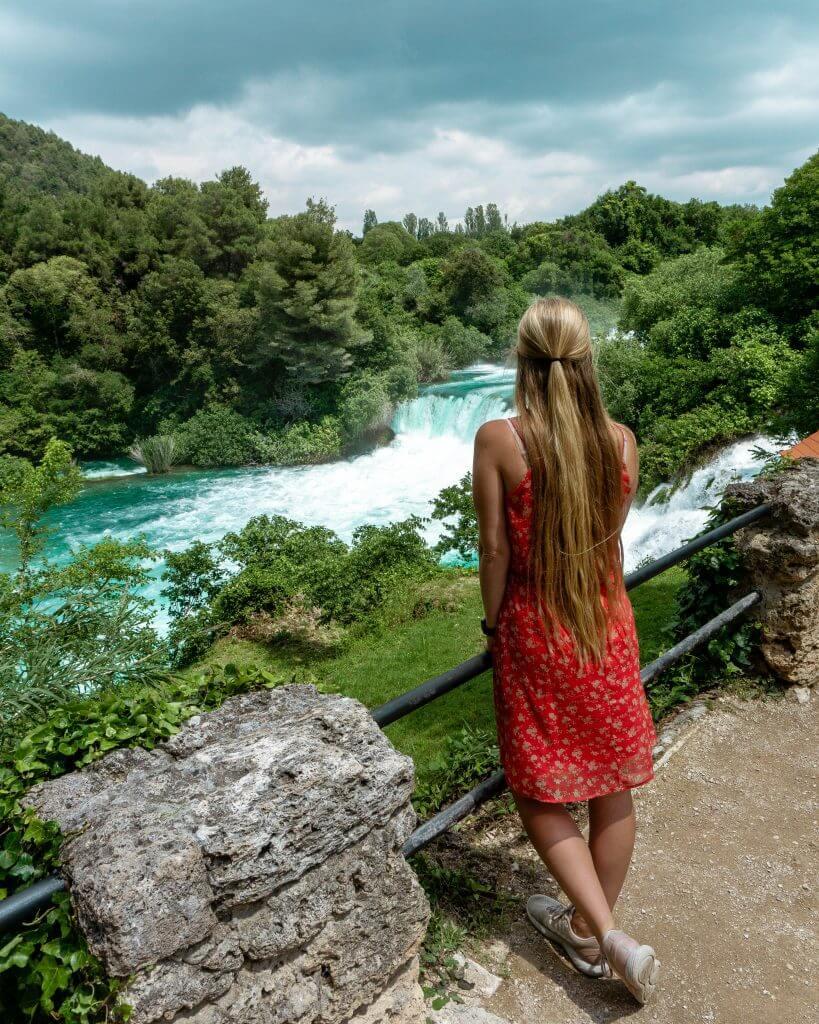Beautiful waterfall in Croatia.