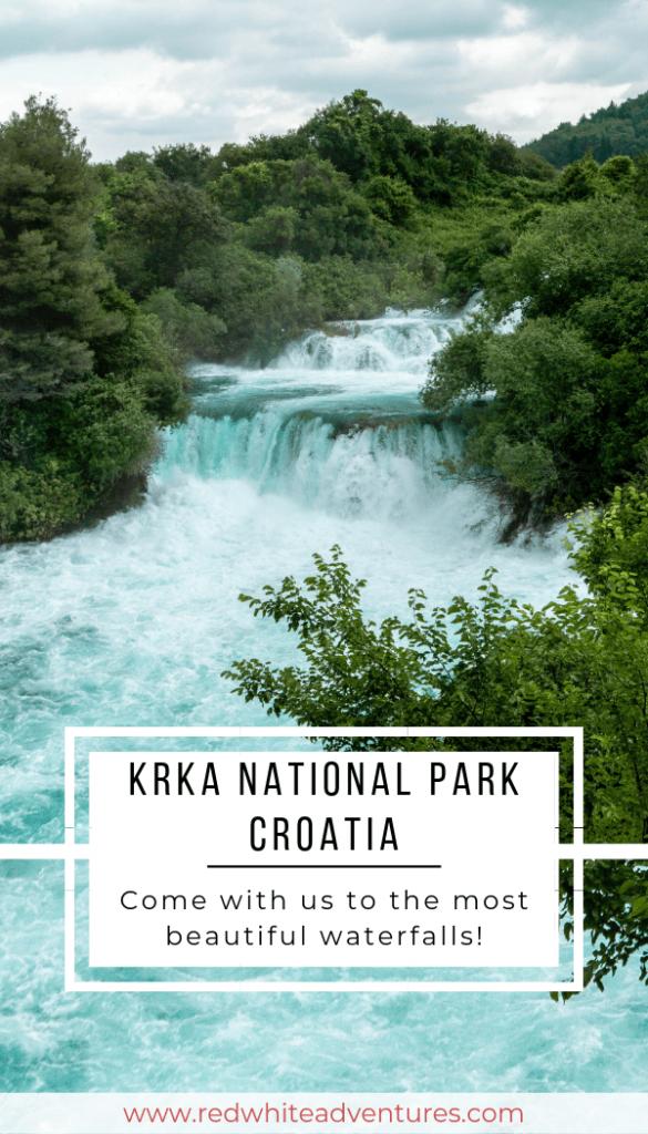 Croatian Waterfalls in Krka National Park.