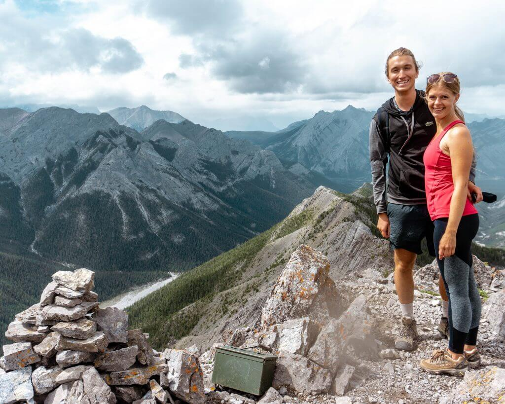Summit of Wasootch Ridge in Kananaskis.