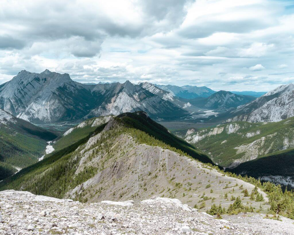 Views of Wasootch Ridge hike in Kananaskis.