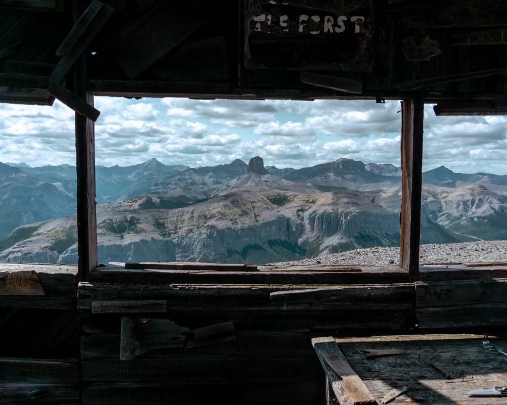 Views from Black Rock Mountain in Alberta.