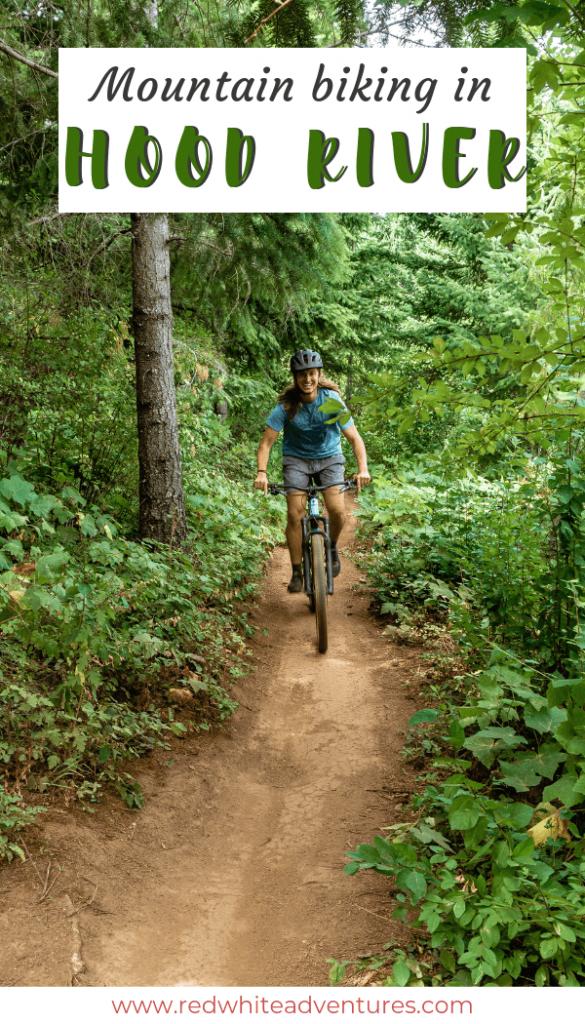 Mountain biking in Hood River pin.