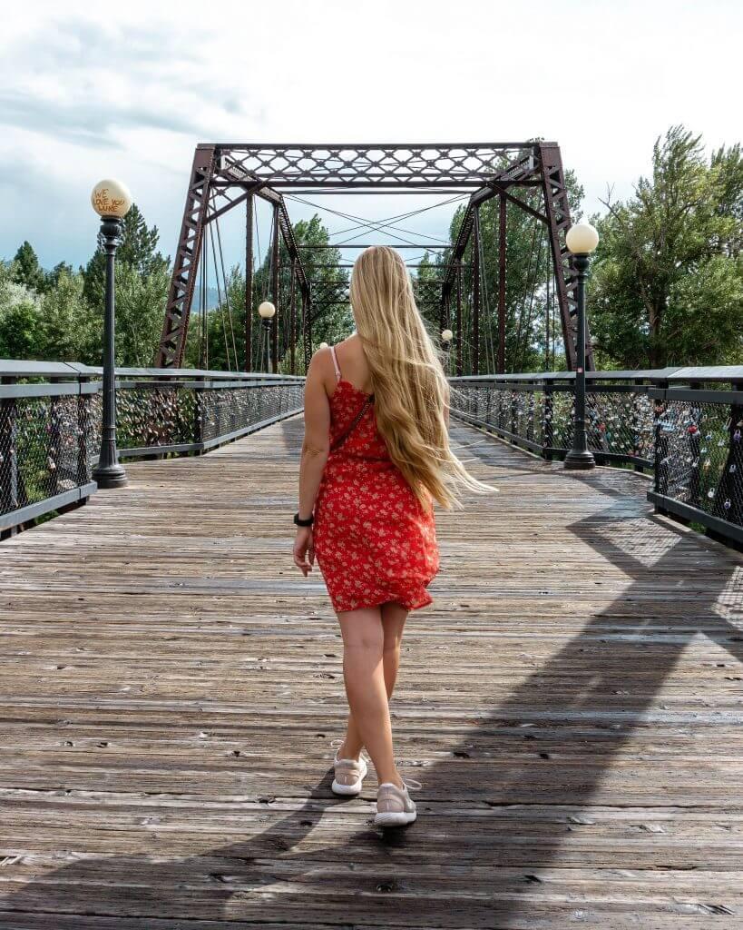 Bridge in Missoula, Montana.