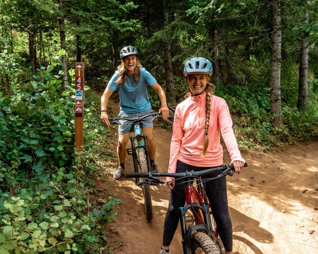 Mountain biking in Hood River, Oregon.