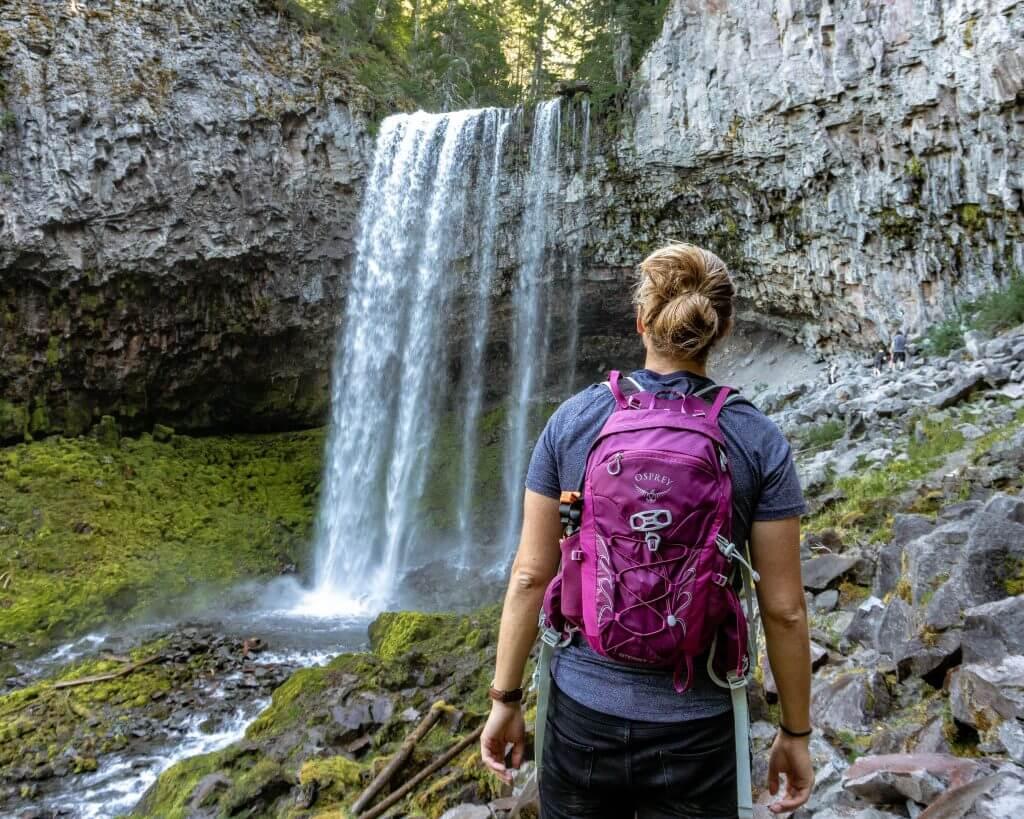 Tamanawas Falls near Portland, Oregon.