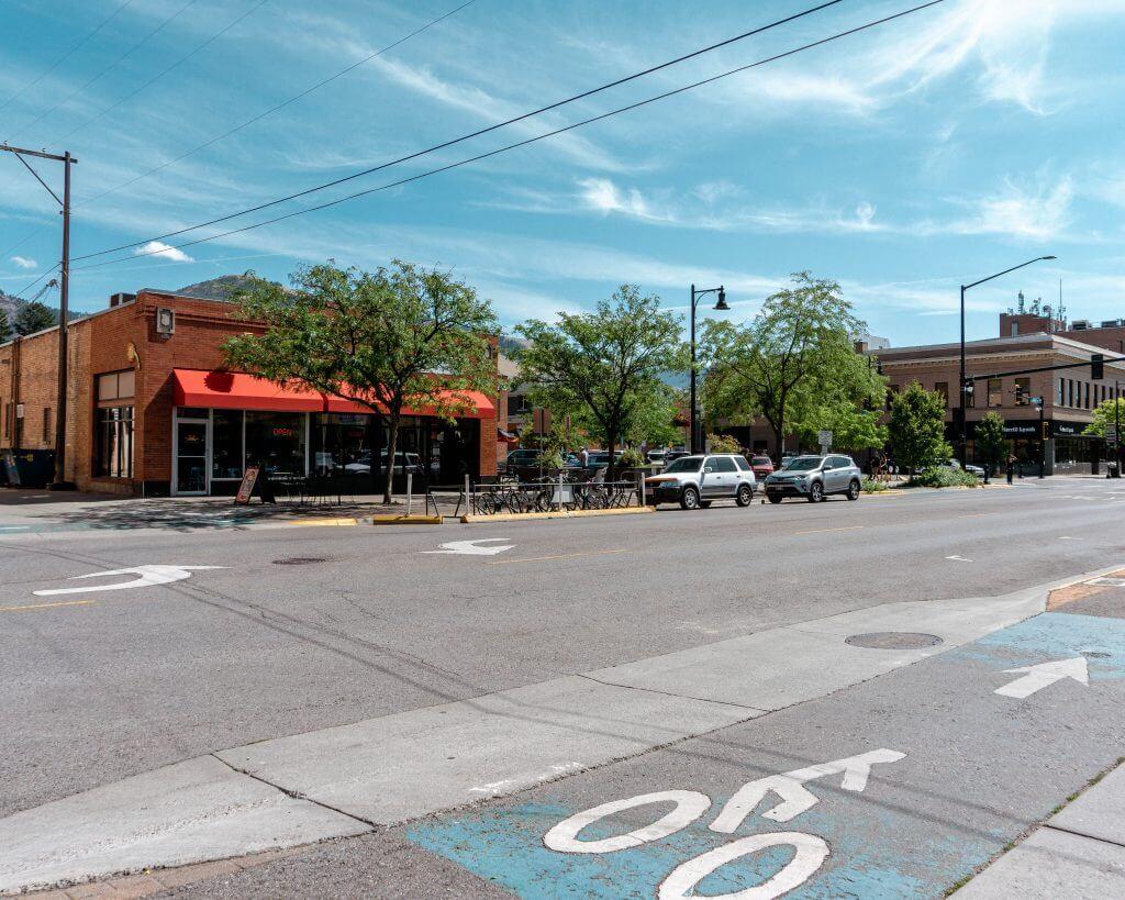 Downtown Missoula, Montana.