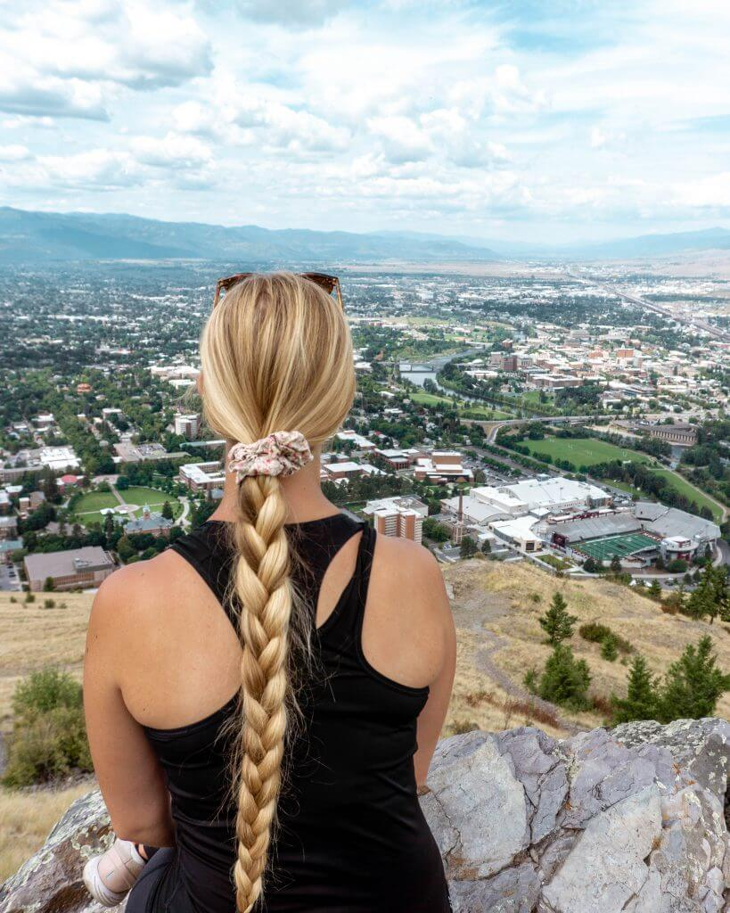 Views from the M hike in Missoula, Montana.