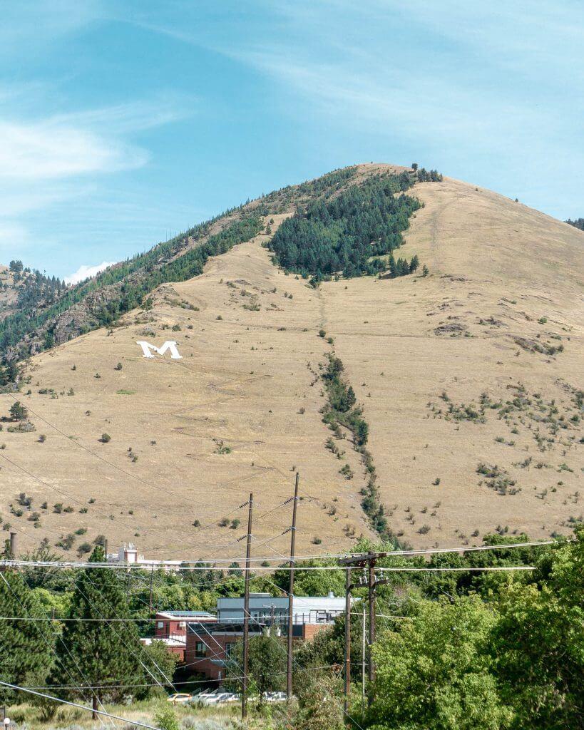 Hiking the M trail in Missoula, Montana