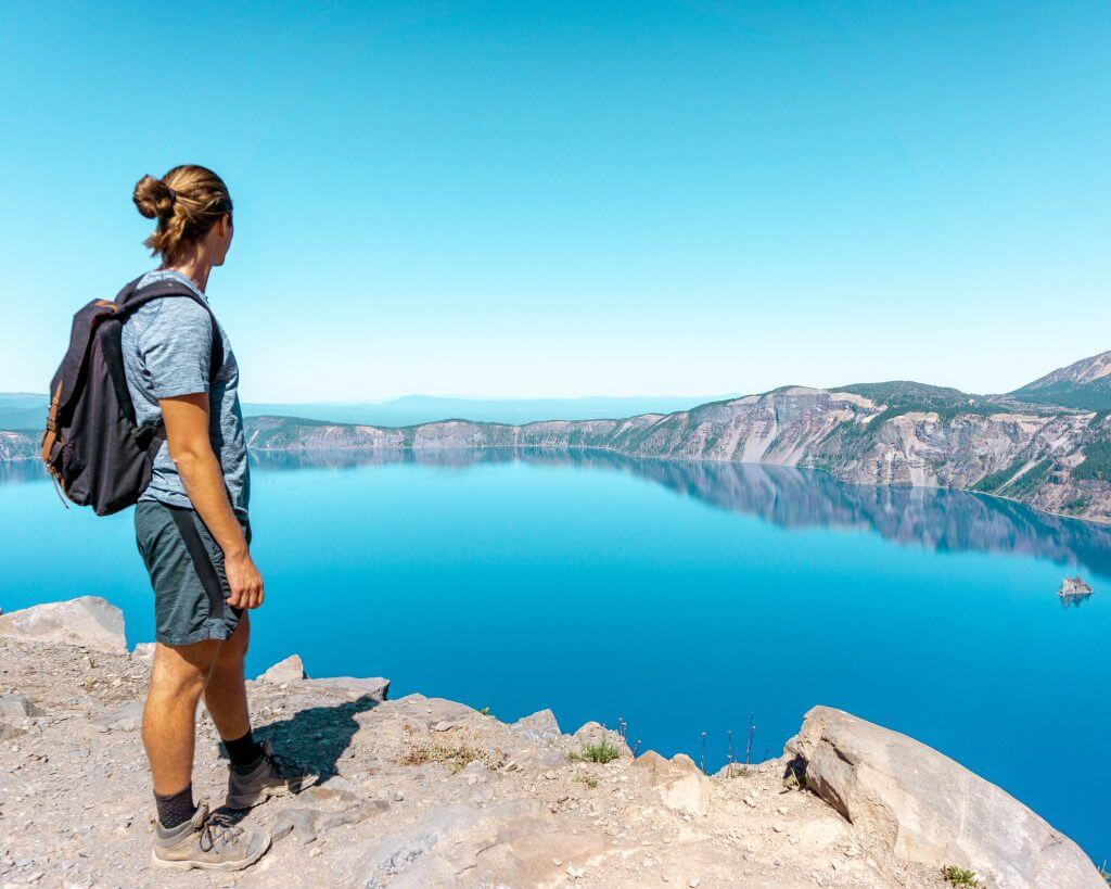 The Best Day Hike in Crater Lake, Oregon - Garfield Peak - Red White Adventures