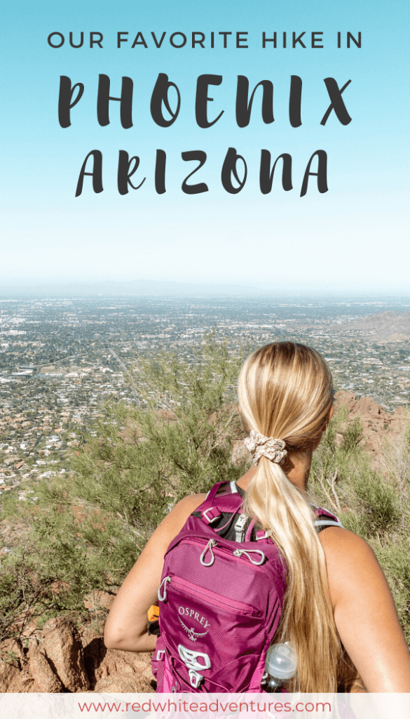 Breathtaking views from Echo Trail at the top of Camelback Mountain in Phoenix Arizona.