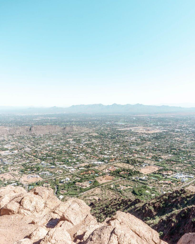 The view from Echo Trail in Phoenix.