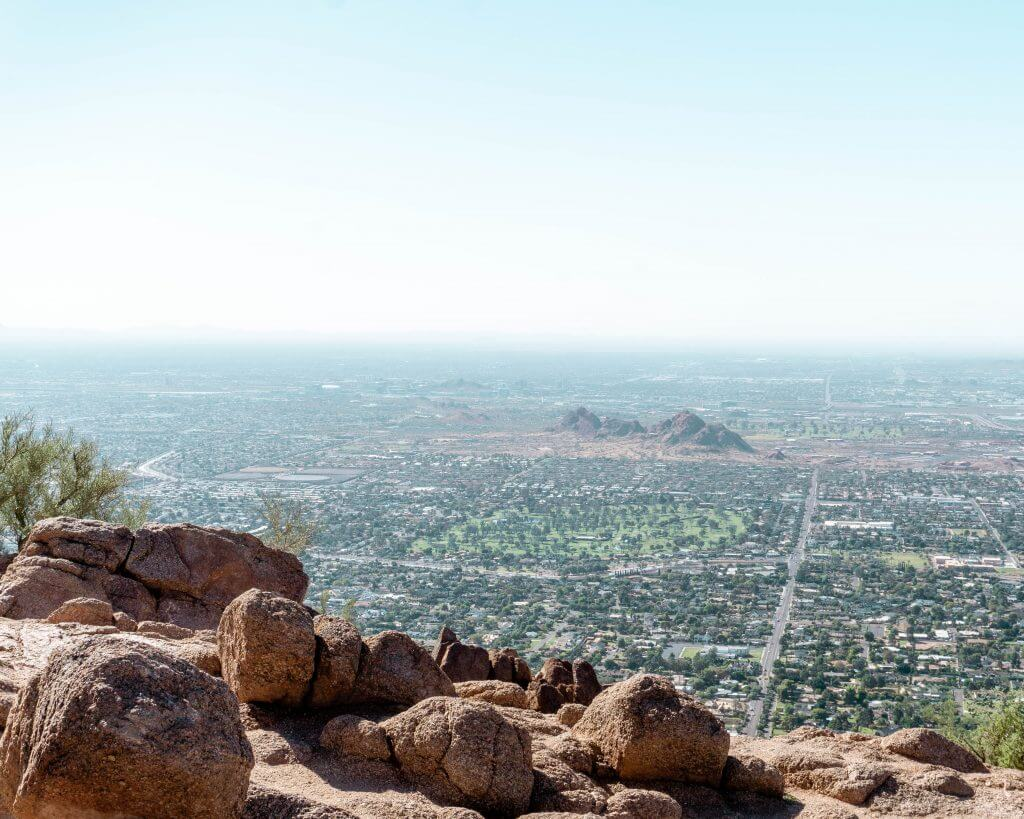 The view from the top of the Camelback Mountain hike.