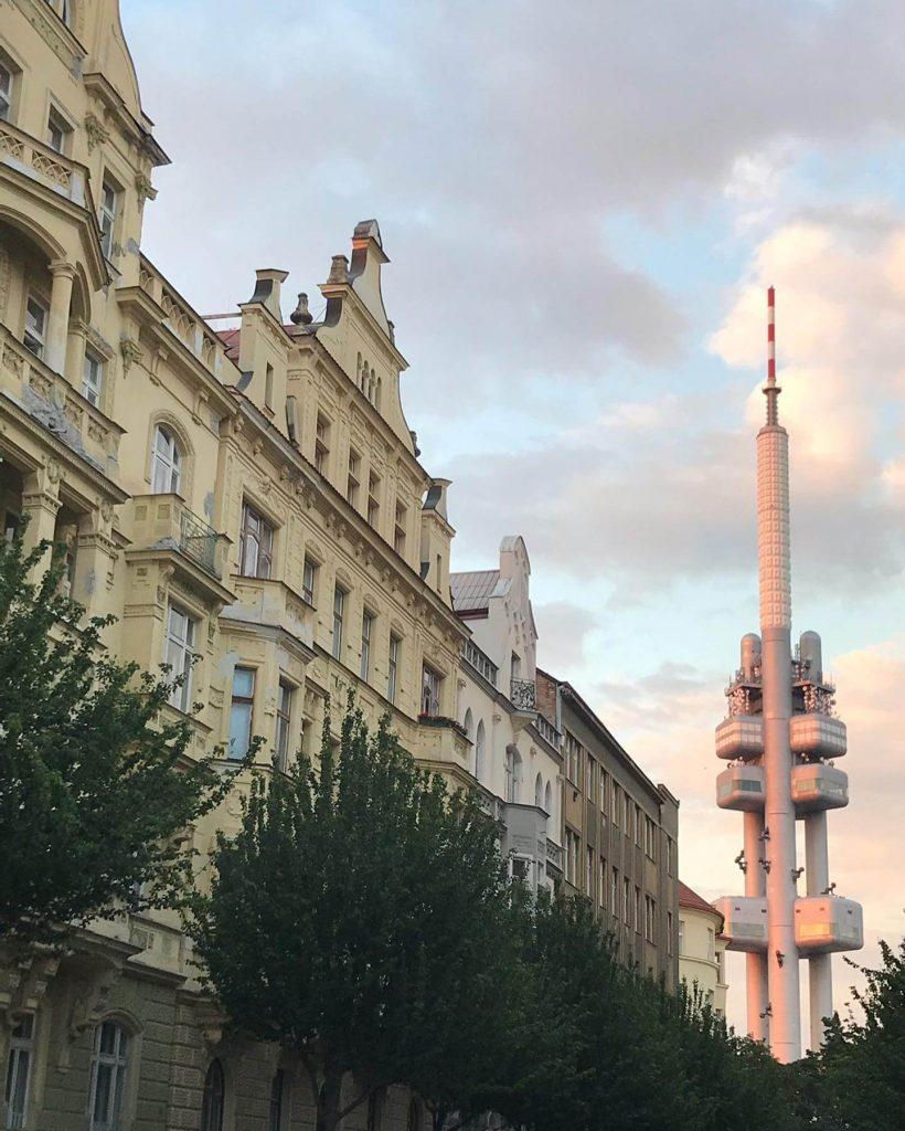 Beautiful buildings in Prague.