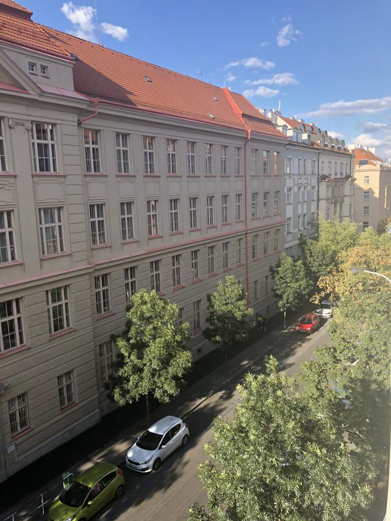 The view from the student housing during the TEFL course in Prague
