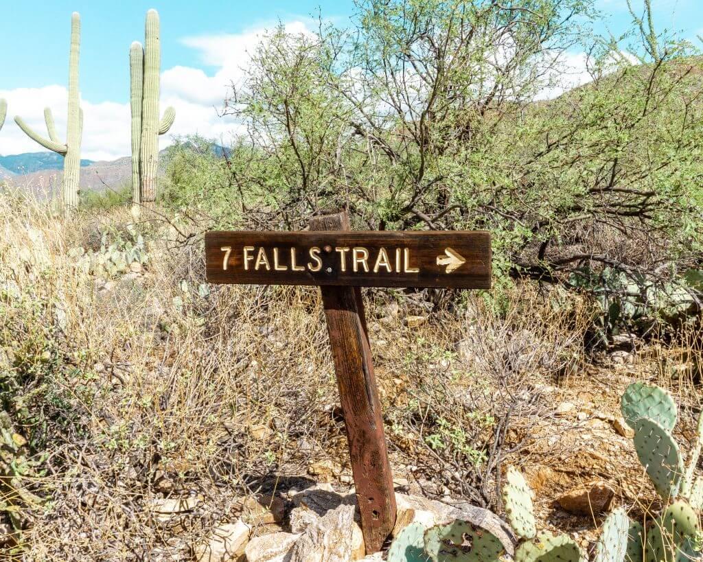 7 Falls trailhead in Tucson, Arizona.