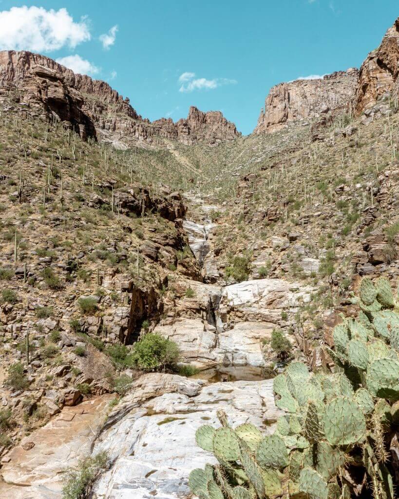 Dried up waterfall in Tucson, Arizona.
