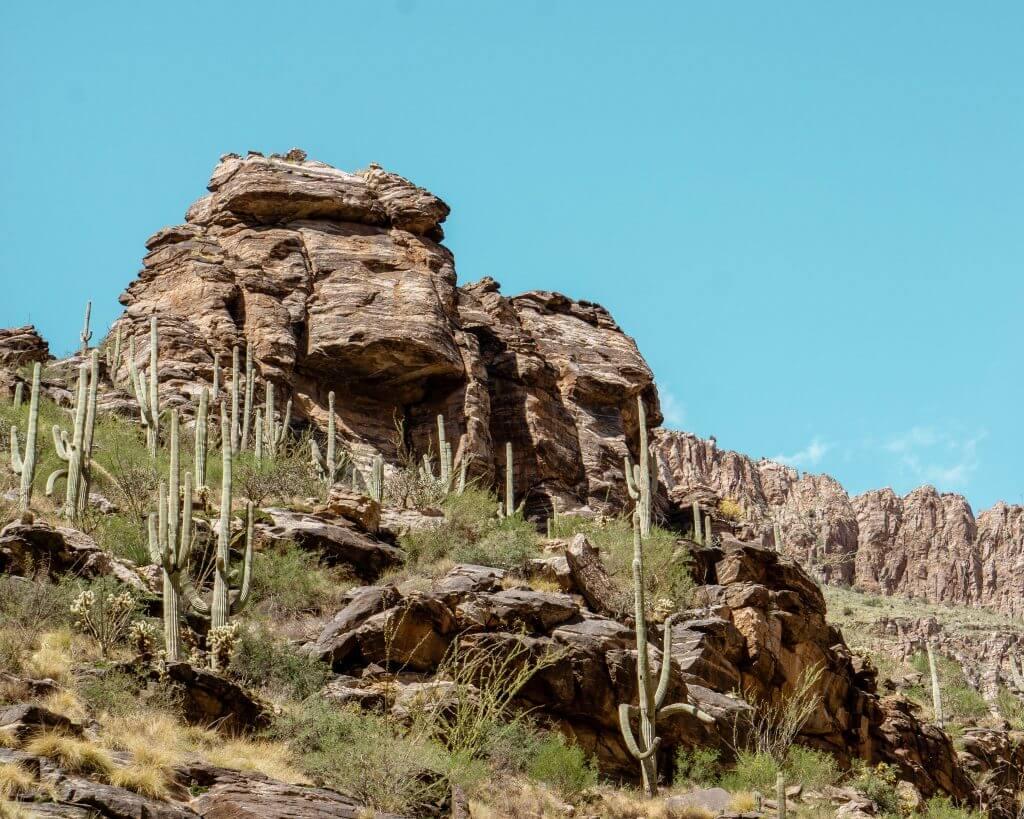 Hiking the 7 Falls Trail in Tucson, Arizona.