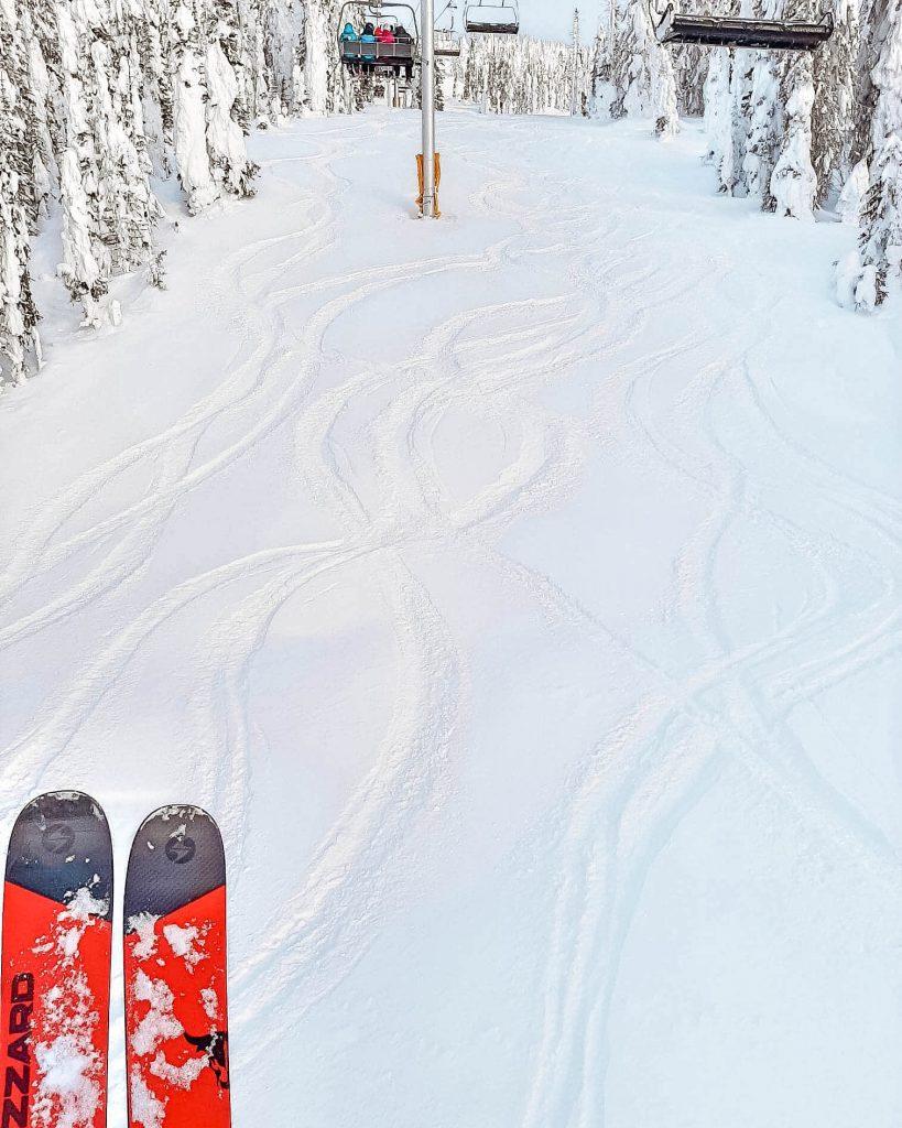 Skiing up at Big White near Kelowna.
