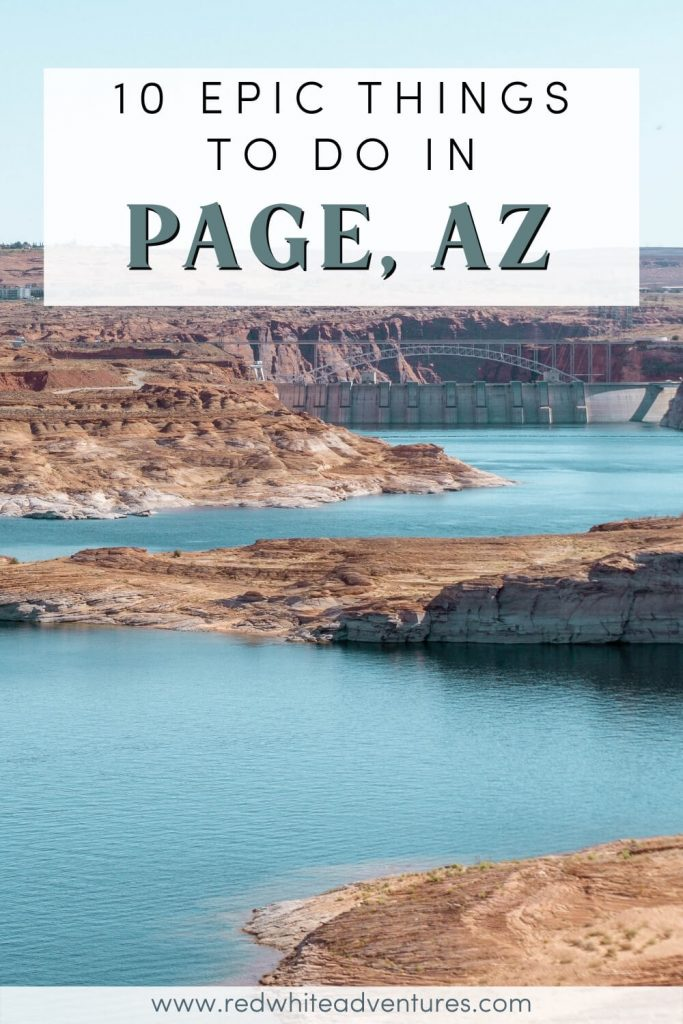 List of things to do in Page Arizona, Pin for Pinterest