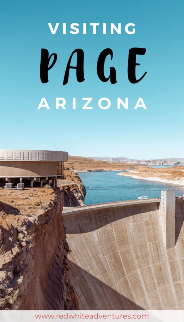 Pin with an image of Glen Canyon Dam in Arizona