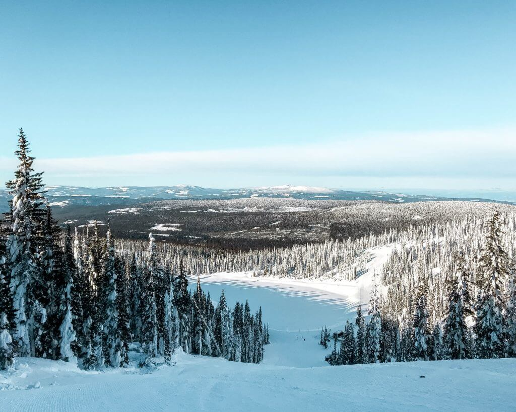 Big White ski resort in winter.