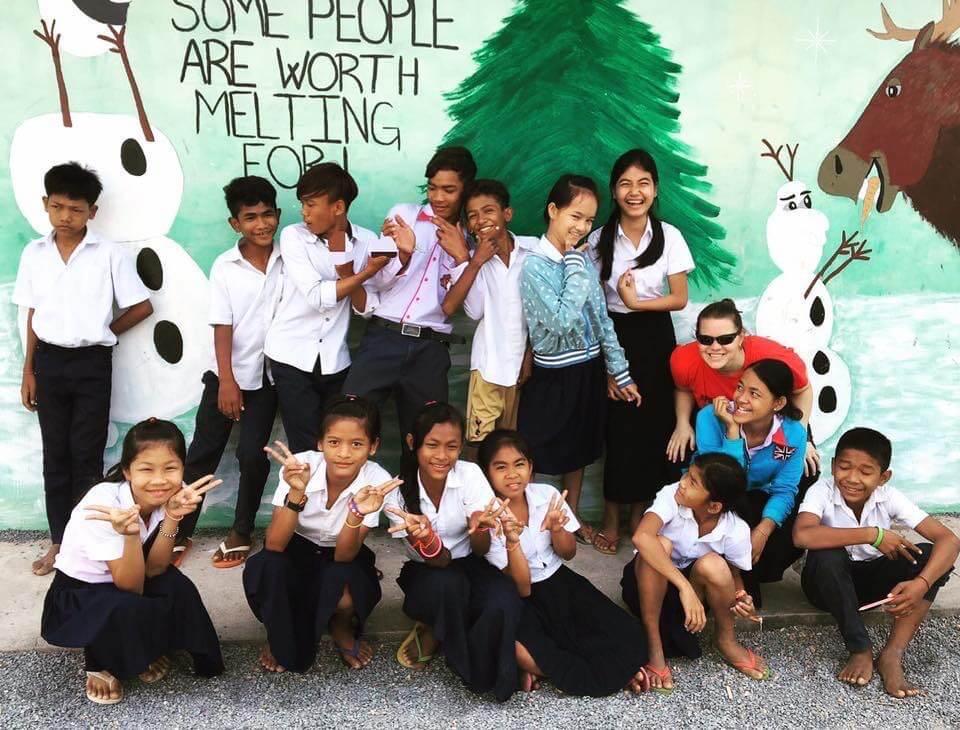 Teaching English in Cambodia.