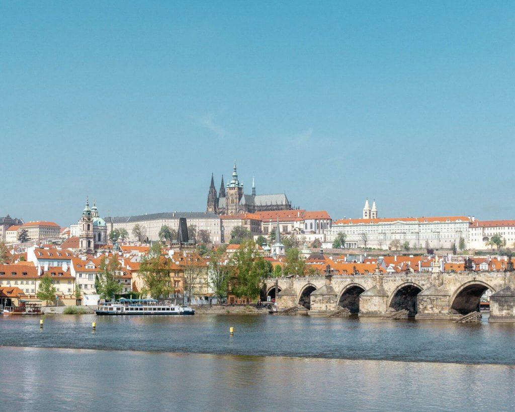 Views of Prague Castle in the Czech Republic.