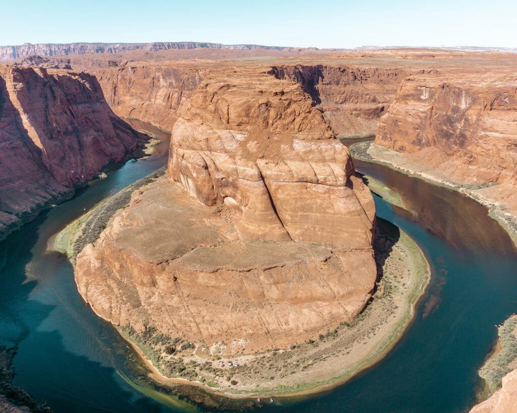 The view at the end of Horseshoe Bend Hike