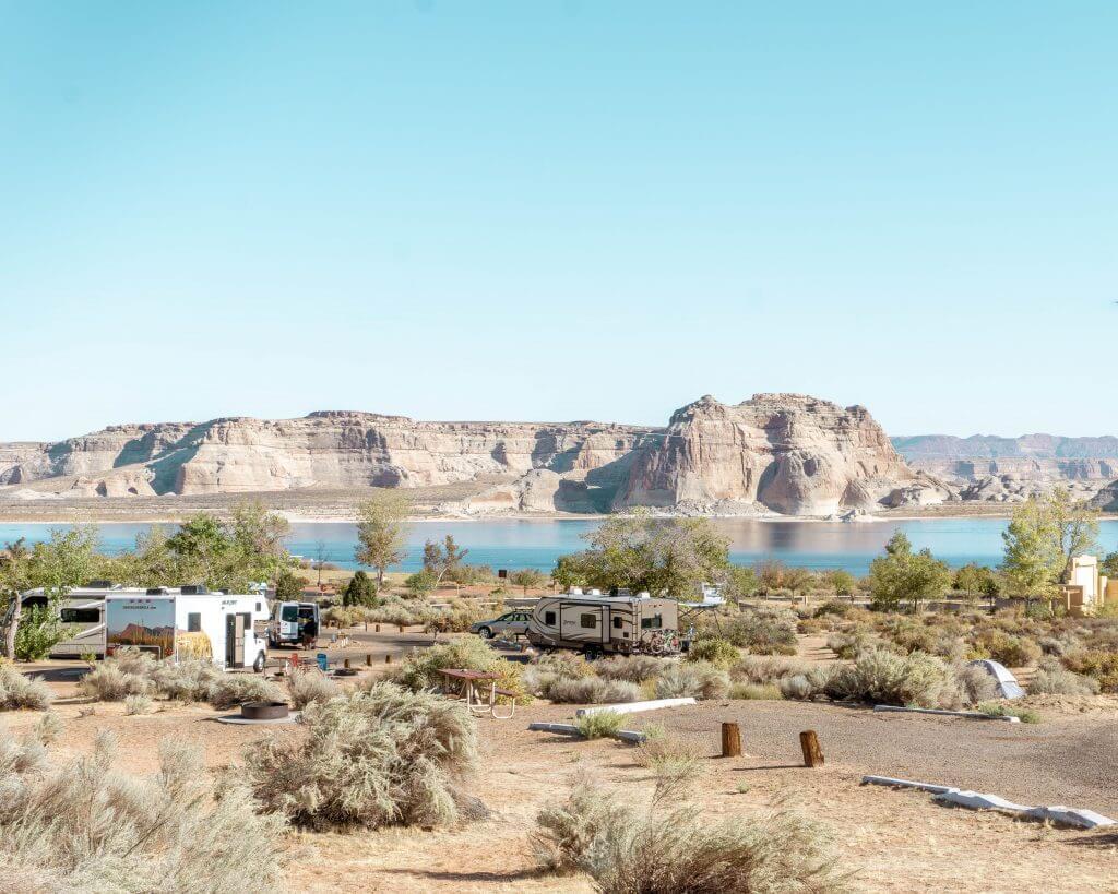 Wahweap Campground near Page, Arizona.