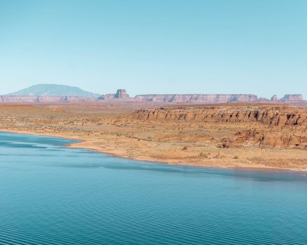 Views of Lake Powell in Page, Arizona.