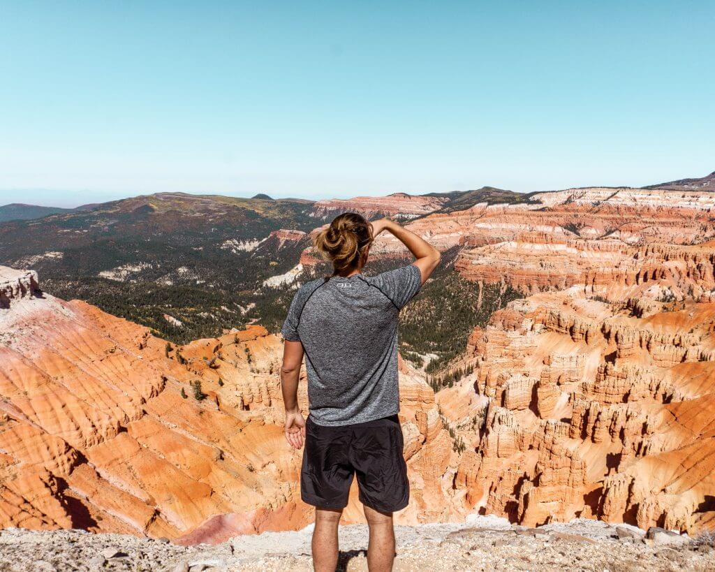 Admiring the views of this amazing souther Utah hike.