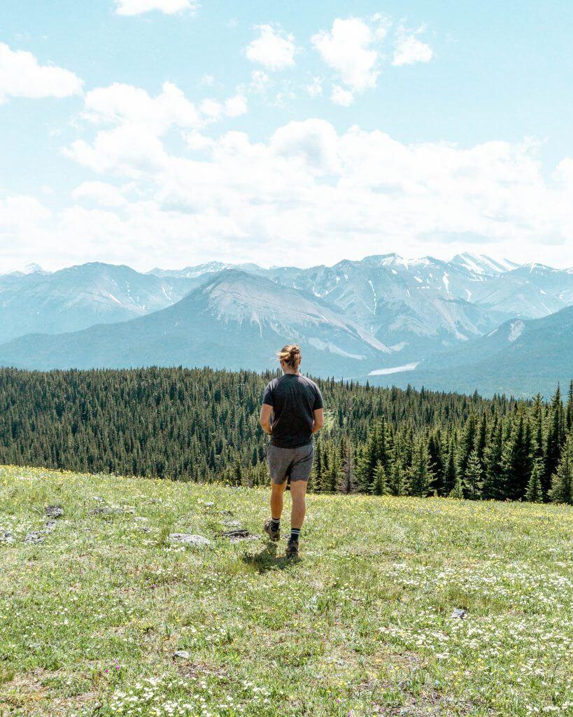 Exploring the Alberta mountains.