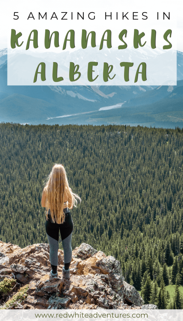 Pin for Pinterest of hiking in Alberta.
