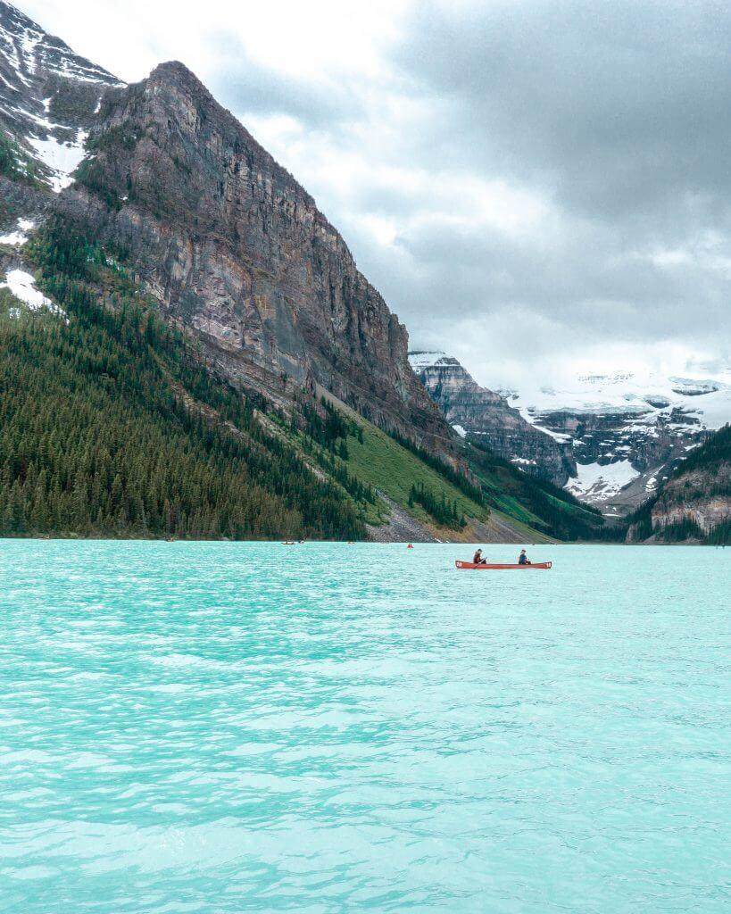 Canoe in Banff.