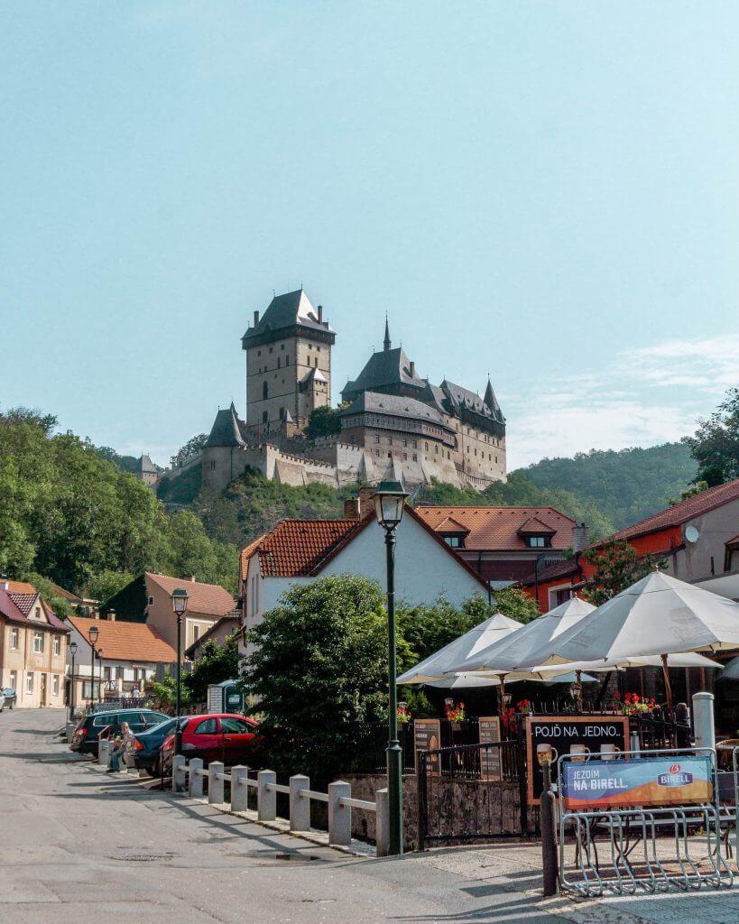 Views of a beautiful castle near Prague.