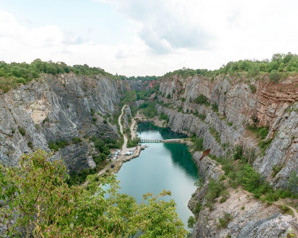 Stunning limestone quarry in The Czech Republic.