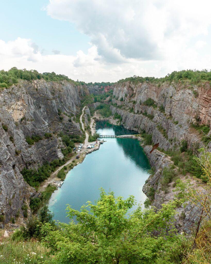 Photo of Velka Amerika (limestone quarrie) in the Czech Republic.