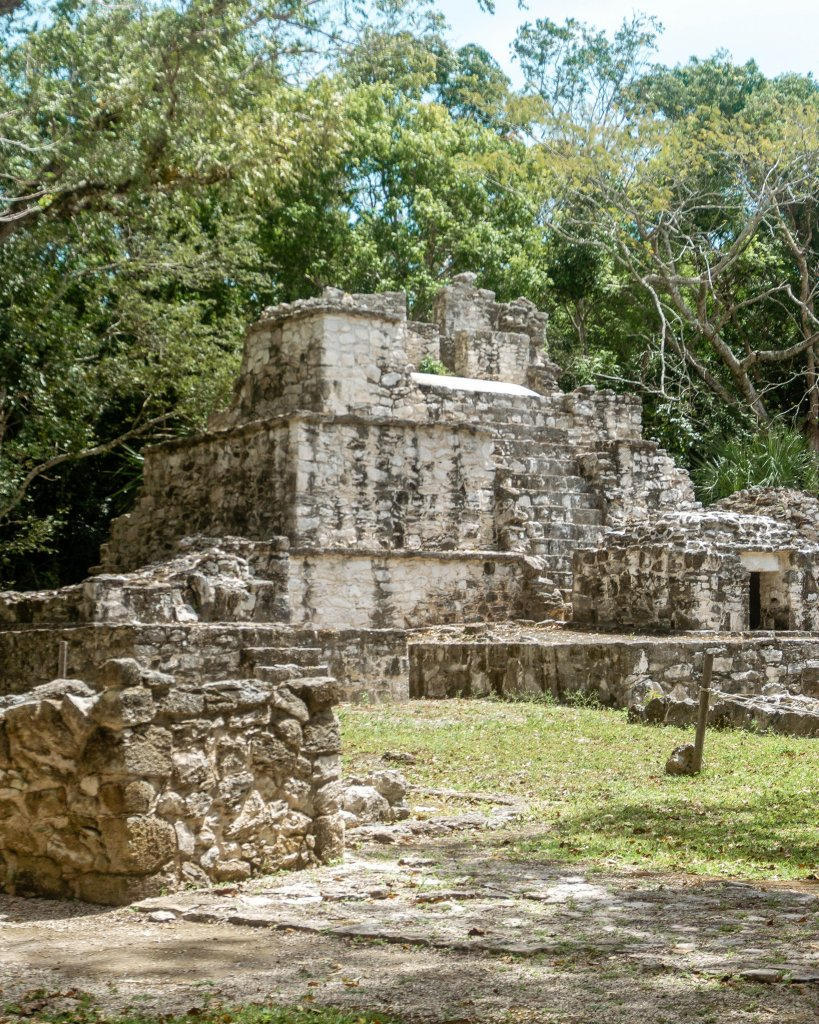 Archeological area of Sian Ka'an Muyil in Mexico.