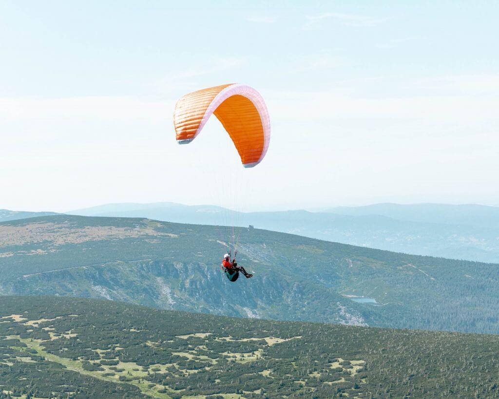 Paragliding in the Czech Republic.
