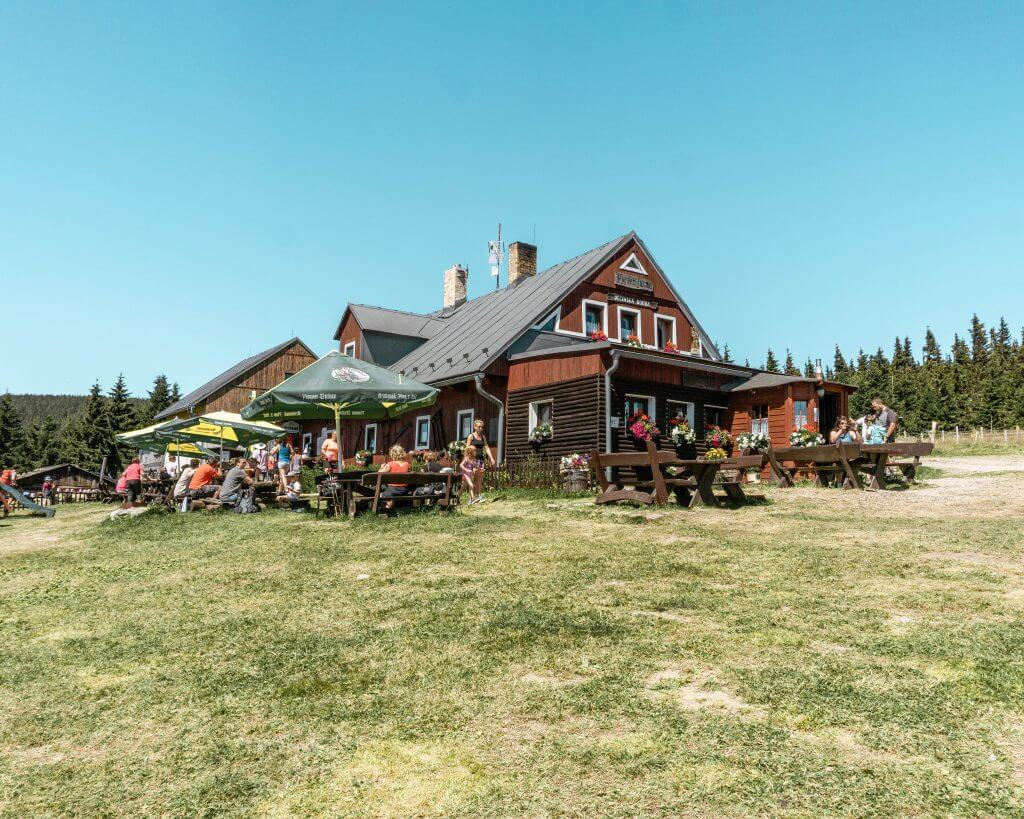 Restaurant on the mountain to Snezka!