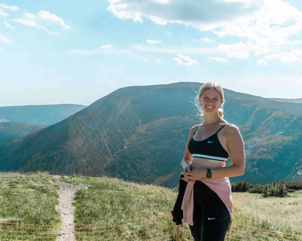 Jo hiking in the Czech Republic.