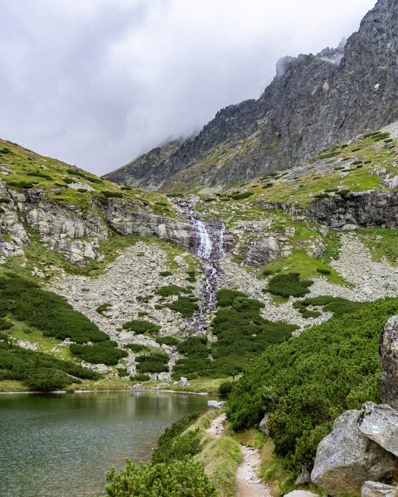 Stunning waterfall in the High Tatras.