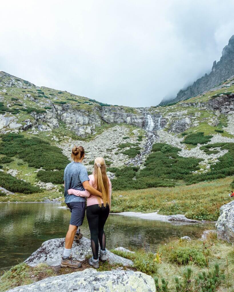 Beautiful waterfall in Slovakia.