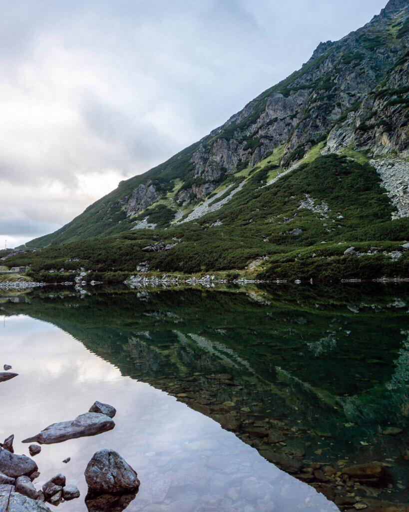 Beautiful alpine lake next to Sliezsky Dom in Slovakia.