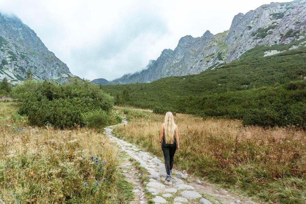 Hiking trail in Slovakia.
