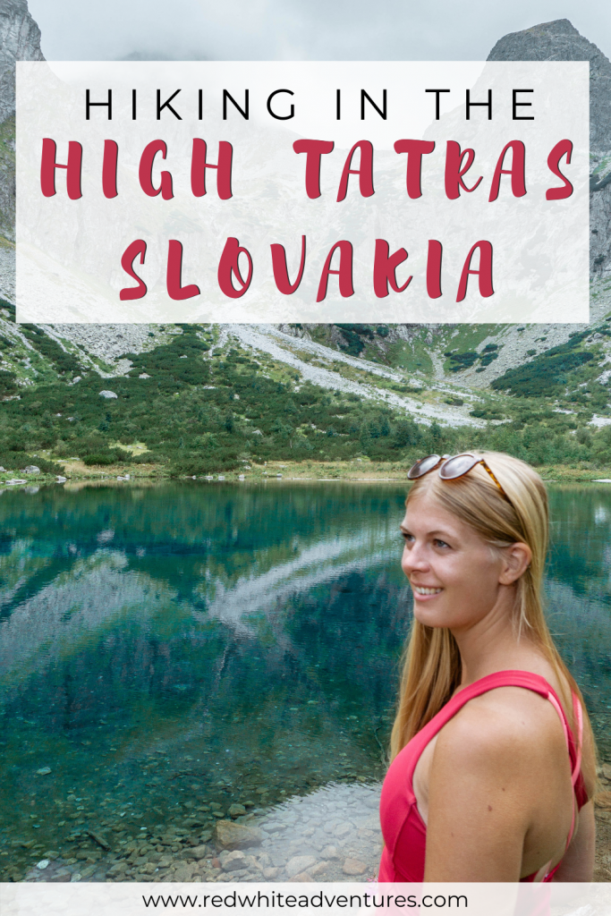 Hiking in Slovakia Pin for Pinterest.
